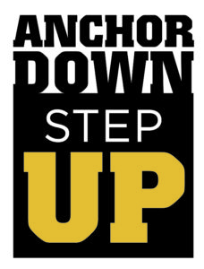 Anchor Down. Step Up. campaign graphics