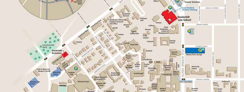 Campus map of Vanderbilt University