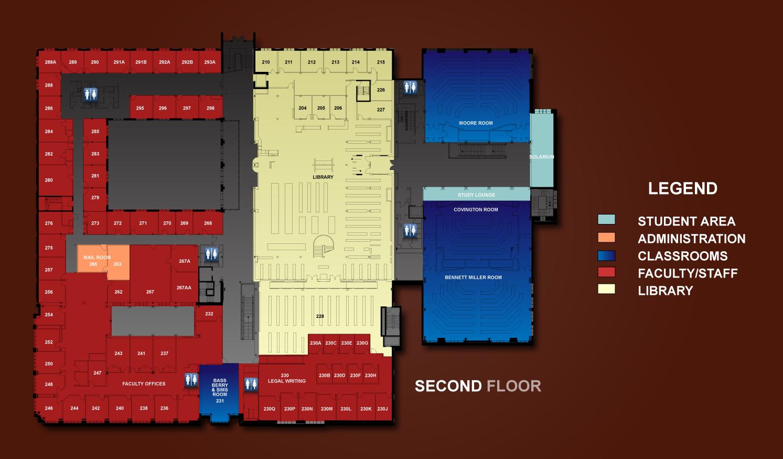 2nd Floor Floor Plans Room Index Tour The Building