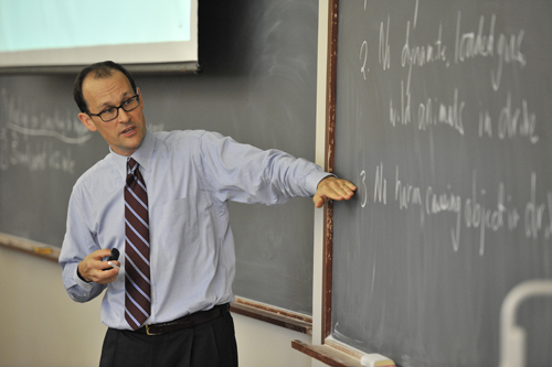 Professor Kevin Stack teaching