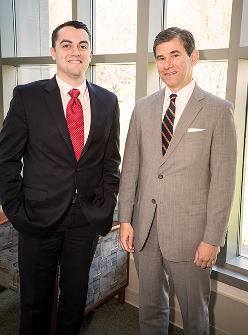 Cameron Norris '14 and Judge William Pryor of the U.S. Court of Appeals for the Eleventh Circuit