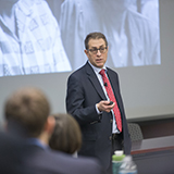 "Barry Friedman, the Jacob D. Fuchsberg Professor of Law at New York University, delivered the 2017 Victor S. Johnson Lecture March 14. He is one of the country's leading authorities on constitutional law, criminal procedure and the federal courts. In his lecture, he discussed his newly released book, ""Unwarranted: Policing without Permission."""