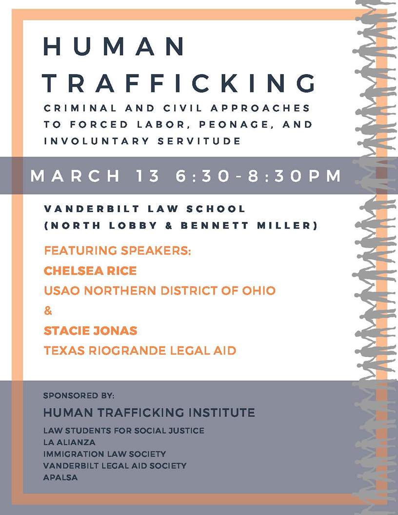 Human Trafficking Institute poster