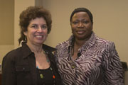 Sharon Charney with Fatou Bensouda