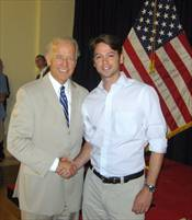 Charlie Trumbull with Joe Biden