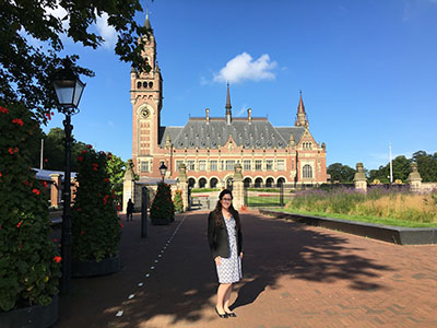 Meg Fowler '18 at The Hague