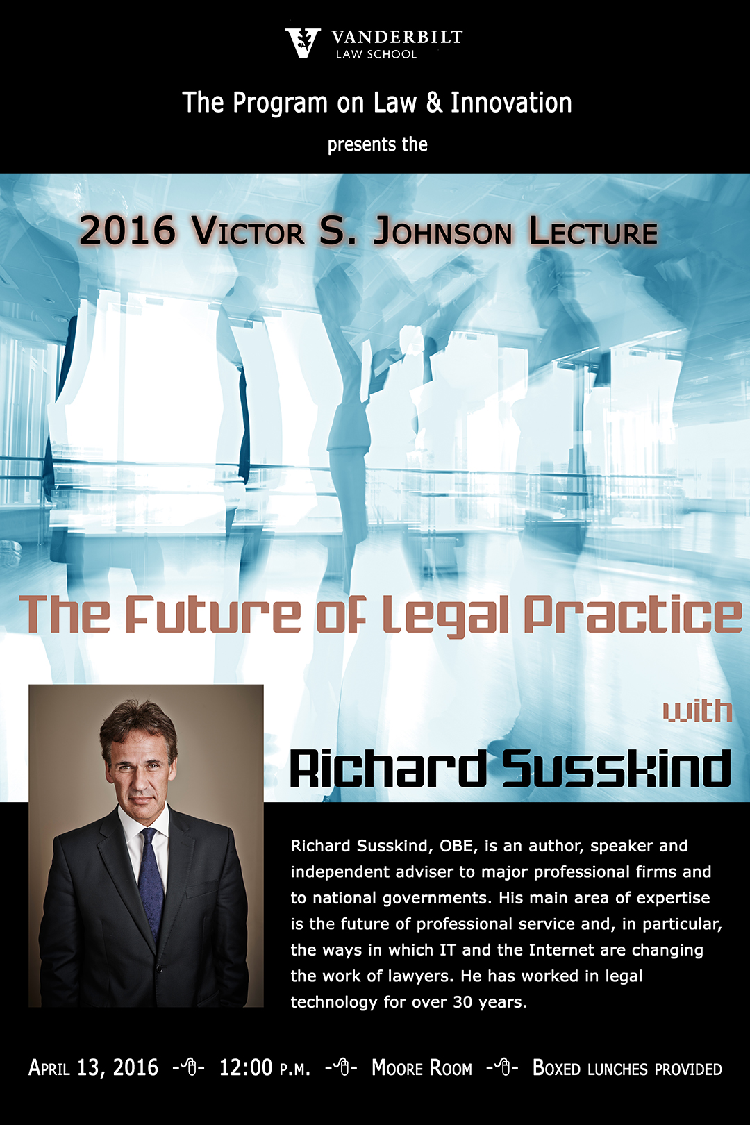 2016 Victor S. Johnson Lecture: The Future of Legal Practice with Richard Susskind