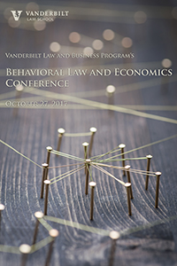 2017 Behavioral Law and Economics Conference poster