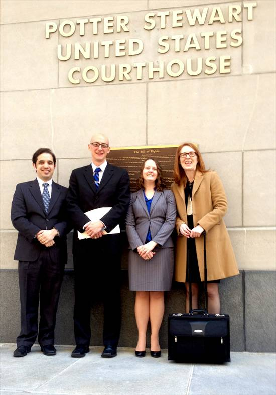 Students with Prof. Newbern at court