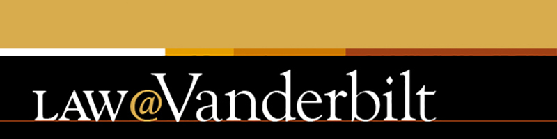 Logo Header for the Law@Vanderbilt monthly newsletter.