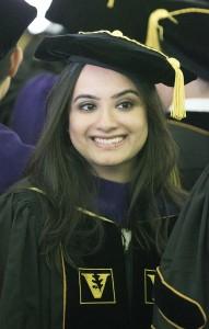 Sharmeen Ladhani received the Philip G. Davidson Award, Photo by Joe Howell