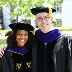 Monique Hannam '15 with Professor Daniel Sharfstein