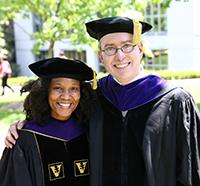 Monique Hannam '15 with Professor Daniel Sharfstein