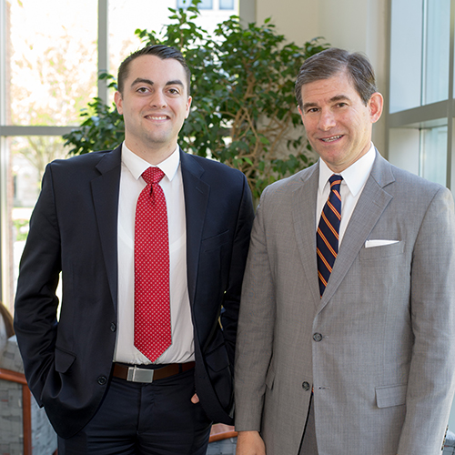 Cameron Norris '14 (BA'11) with Judge William H. Pryor Jr. of the Eleventh Circuit