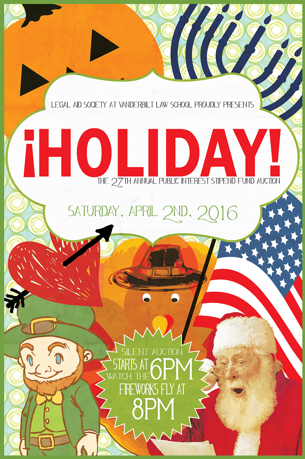 2016 PISF Auction poster, Holiday!