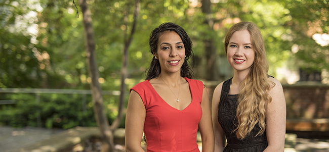 Marian Mikhail '17 and Carly Myers '17 named George Barrett Fellows