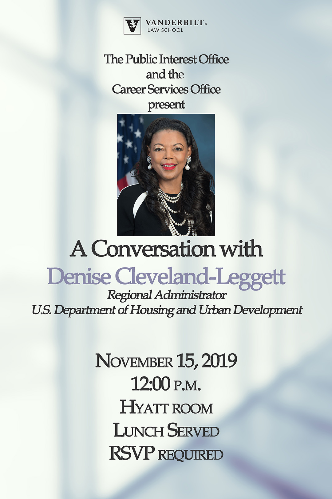 Image of event poster for Denise Cleveland-Leggett