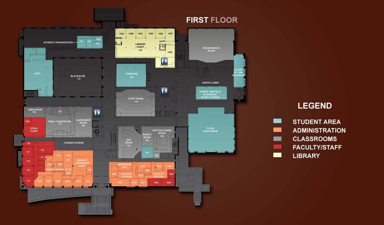 1st Floor Floor Plans Room Index Tour The Building